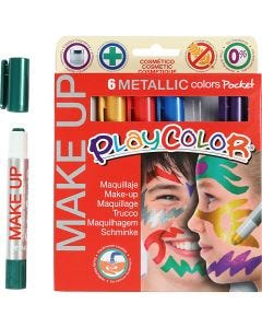 Playcolor Make up, metallic, diverse kleuren, 6x5 gr/ 1 doos