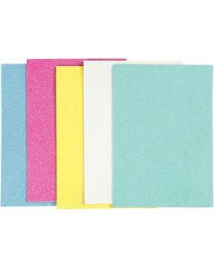 EVA foam vellen, A5, 148x210 mm, dikte 2 mm, diverse kleuren, 5 vel/ 1 doos