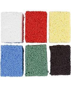 Soft Foam, standaardkleuren, 6x10 gr/ 1 doos