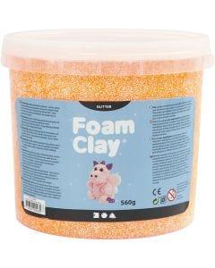 Foam Clay®, glitter, oranje, 560 gr/ 1 emmer