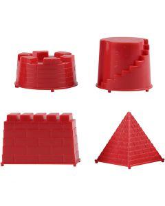 Vormpjes, kasteel, afm 5,5-8,5 cm, 4 stuk/ 1 doos