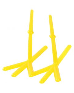 Kippen voeten, H: 28 mm, L: 37 mm, geel, 50 stuk/ 1 doos