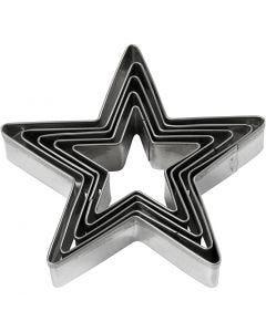 Uitsteekvormen, ster, afm 8 cm, 5 stuk/ 1 doos