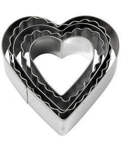 Uitsteekvormen, harten, afm 8 cm, 5 stuk/ 1 doos