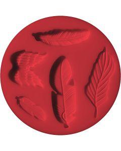 FIMO® vormen, veren, d: 7 cm, 1 stuk