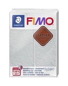 FIMO® Leather Effect , dove grey (809), 57 gr/ 1 doos