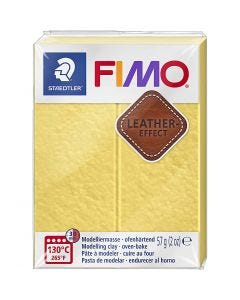 FIMO® Leather Effect , saffran yellow (109), 57 gr/ 1 doos