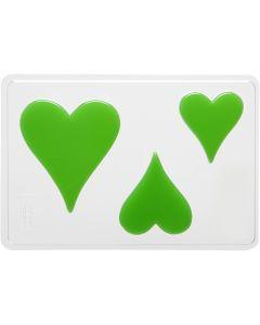 Gietmal, hart, H: 6+8+10 cm, afm 14,9x22 cm, 1 stuk