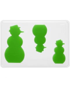 Gietmal, sneeuwpop, H: 6+8+10 cm, afm 14,9x22 cm, 1 stuk