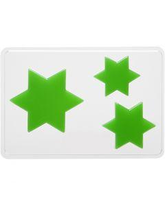 Gietmal, ster, H: 6+8+10 cm, afm 14,9x22 cm, 1 stuk