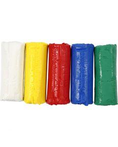 Soft Clay, H: 9,5 cm, diverse kleuren, 400 gr/ 1 emmer