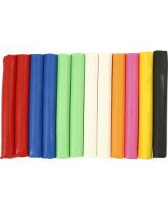 Soft Clay, diverse kleuren, 200 gr/ 1 doos