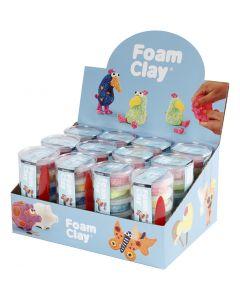 Foam Clay®, glitterkleuren, metallic kleuren, 12 set/ 1 doos