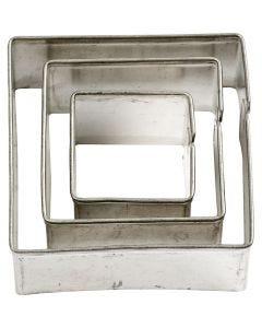 Uitstekers, vierkant, afm 20+30+40 mm, 3 stuk/ 1 doos