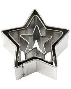 Uitstekers, ster, afm 40x40 mm, 3 stuk/ 1 doos