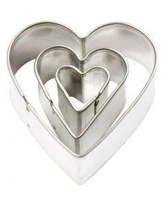 Uitstekers, hart, afm 40x40 mm, 3 stuk/ 1 doos