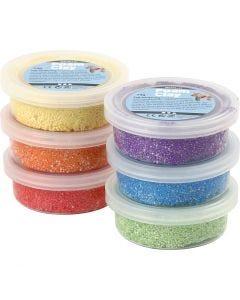 Foam Clay®, metallic, sterke kleuren, 6x14 gr/ 1 doos