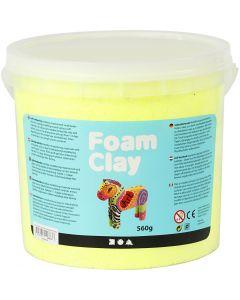 Foam Clay®, neon geel, 560 gr/ 1 emmer