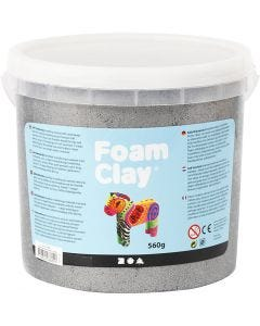Foam Clay®, metallic, zilver, 560 gr/ 1 emmer
