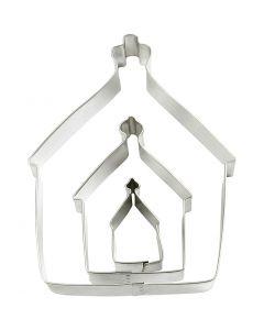 Uitstekers, huis, afm 9,5x12,8 cm, 3 stuk/ 1 doos
