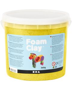 Foam Clay®, metallic, geel, 560 gr/ 1 emmer