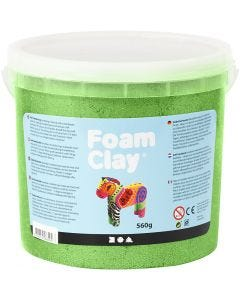 Foam Clay®, metallic, groen, 560 gr/ 1 emmer