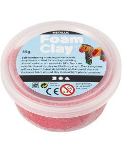 Foam Clay®, metallic, rood, 35 gr/ 1 Doosje