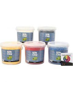 Silk Clay®, primair kleuren, 5x650 gr/ 1 doos