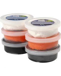 Silk Clay®, zwart, oranje, wit, 6x14 gr/ 1 doos