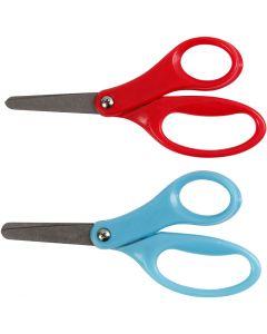 Kinderschaar, L: 13 cm, rechtshandig, blauw, rood, 12 stuk/ 1 doos