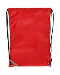 Rugzak, afm 31x44 cm, rood, 1 stuk