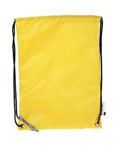 Rugzak, afm 31x44 cm, geel, 1 stuk