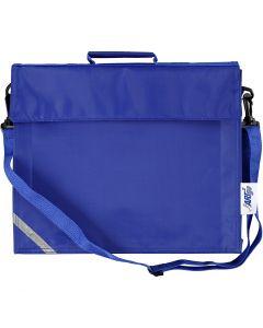 Schooltas, afm 36x31 cm, blauw, 1 stuk