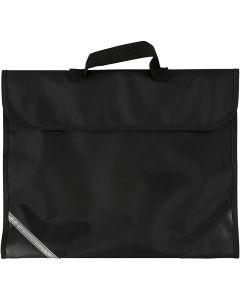 Schooltas, afm 36x29 cm, zwart, 1 stuk