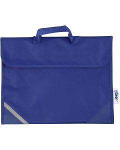 Schooltas, afm 36x29 cm, blauw, 1 stuk