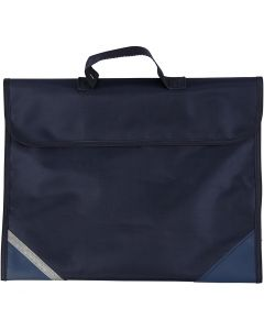 Schooltas, afm 36x29 cm, donkerblauw, 1 stuk