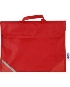 Schooltas, afm 36x29 cm, rood, 1 stuk