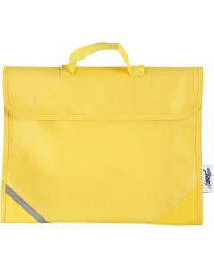 Schooltas, afm 36x29 cm, geel, 1 stuk