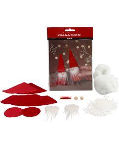 Creative mini kit, kerstkabouter, H: 12 cm, 1 set