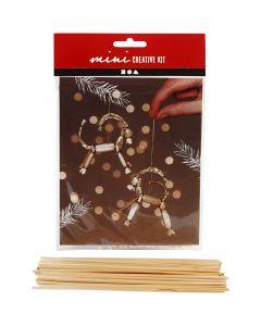 Creative mini kit, traditionele Yule-geit van stro, H: 7 cm, 1 stuk/ 1 set
