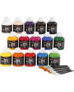 A-Color acrylverf, glossy, diverse kleuren, 1 set