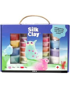 Silk Clay® Set, diverse kleuren, 1 set