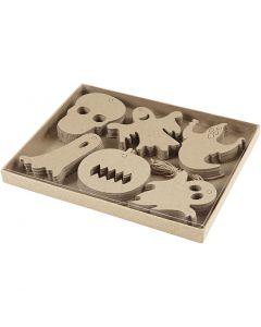 Halloween decoraties, afm 7-10 cm, 6x10 stuk/ 1 doos