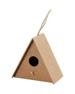 Vogelhuis, H: 10 cm, afm 10x6 cm, 1 stuk