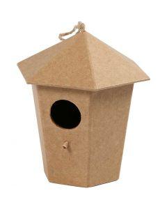 Vogelhuis, H: 11 cm, afm 11x9 cm, 1 stuk