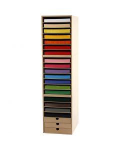 Karton & Opslagkast, H: 100 cm, A4, 210x297 mm, 180 gr, diverse kleuren, 1 set