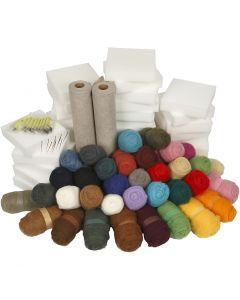 Naaldvilten - Klassenset, diverse kleuren, 1 set