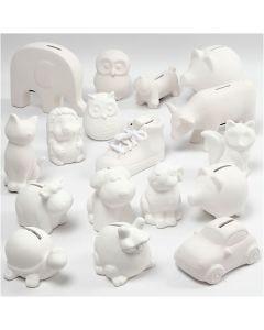 Spaarpotten , wit, 106 stuk/ 1 karton