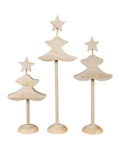 Kerstbomen, H: 26 cm, 3x2 stuk/ 1 doos