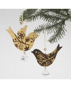 Wooden birds hangings